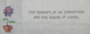 Seeds Flowers Tomorrow Quote A